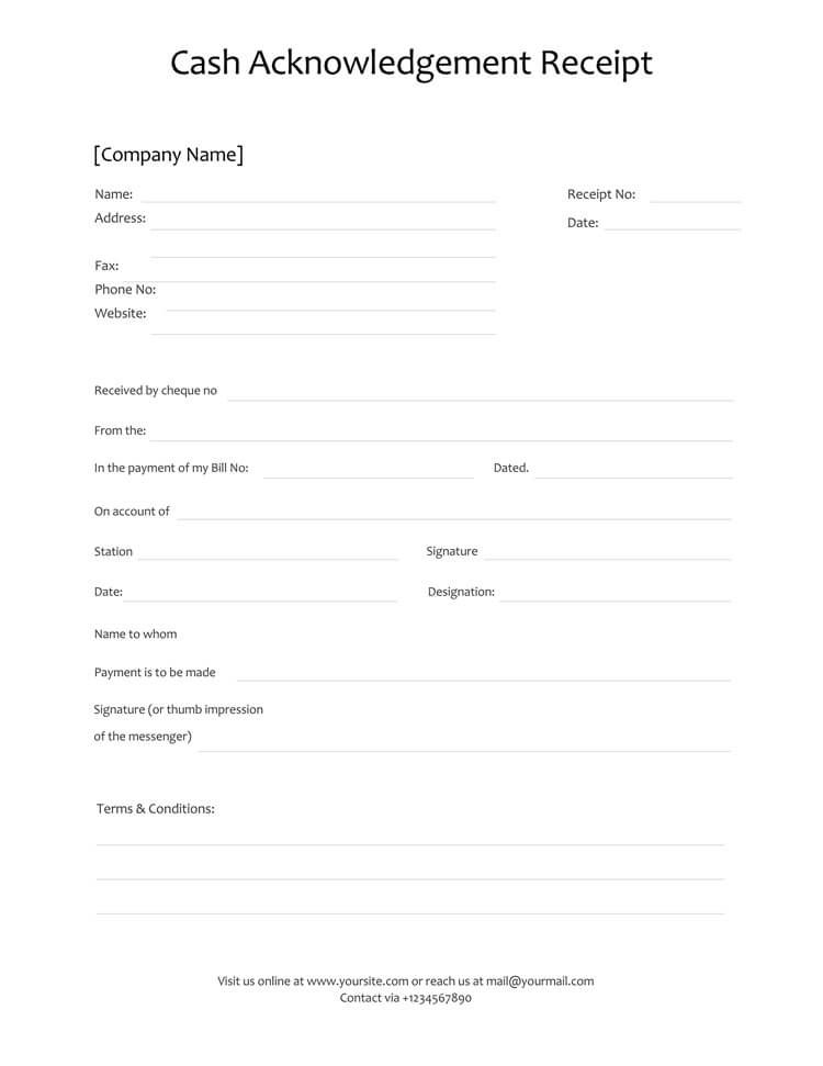 21 Free Cash Receipt Templates For Word Excel And Pdf In 2021 Receipt Template Receipt Invoice Format In Excel