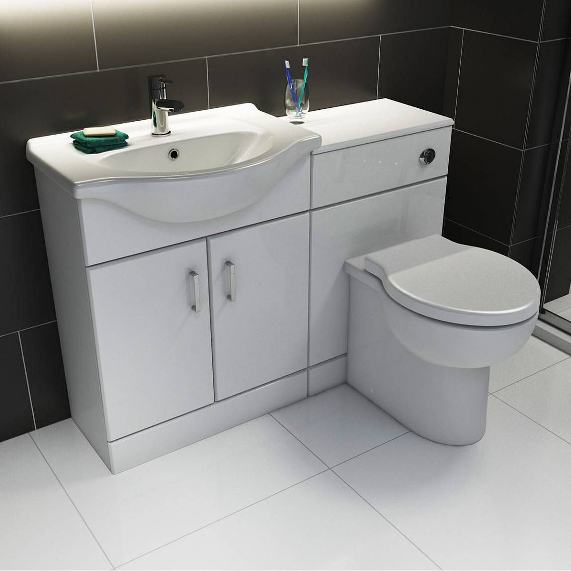 Sienna White 55 Vanity Unit Basin Victoria Plumb White Bathroom Furniture Bathroom Furniture Bathroom
