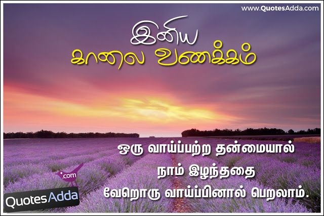 Tamil Daily Whatsapp Good Morning Quotes Best Greetings Images Free