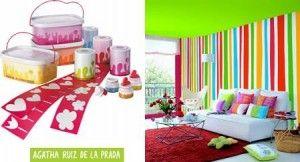 Agatha Ruiz de la Prada. Plantillas y pinturas muy características de su estilo.
