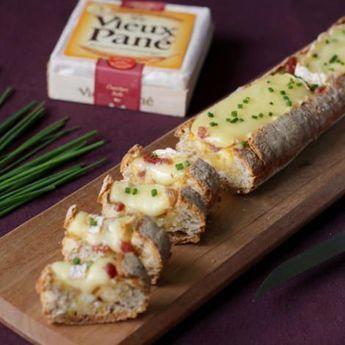 Recette : Baguette apéritive au fromage - Recette au fromage #DesRecettesDeCuisine