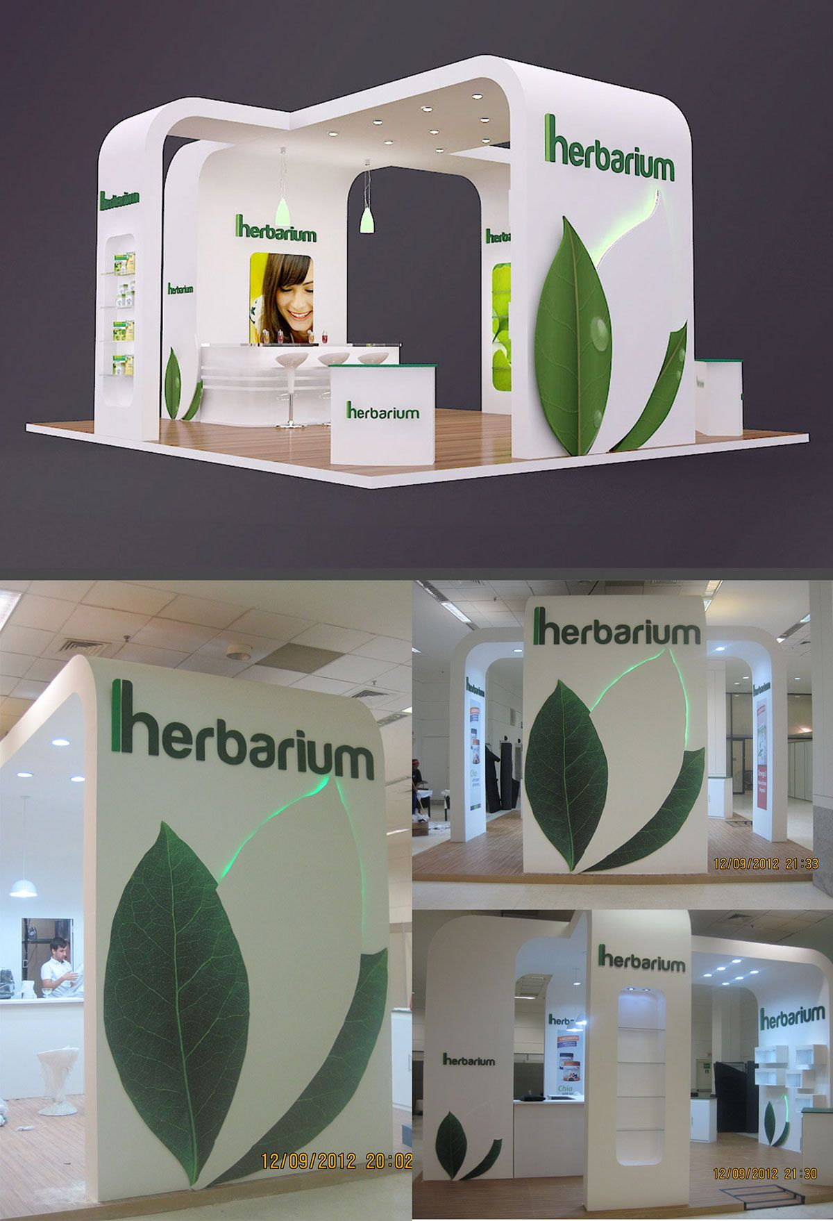 Expo Stands Kioskar : Stand promocional herbarium on behance stands exhibition stall
