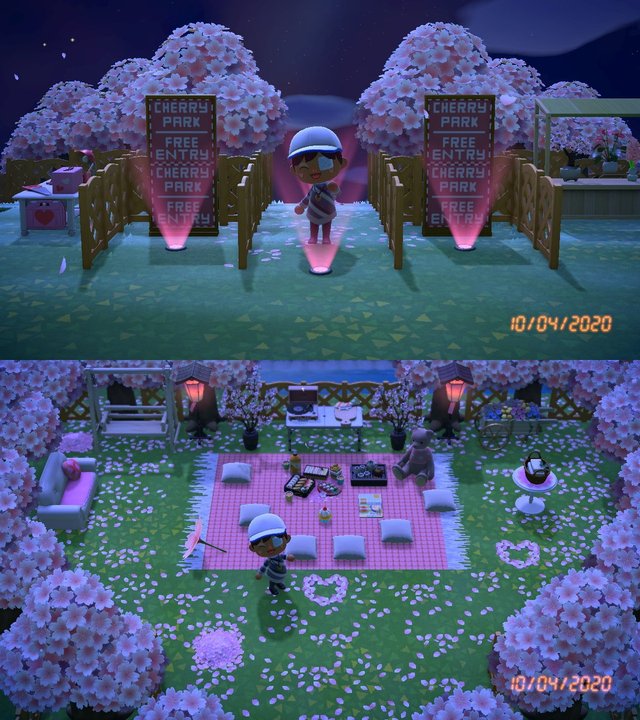 Here S What My Picnic Looked Like Before The Cherry Blossoms Went Animalcrossing Animal Crossing Animal Crossing Game New Animal Crossing