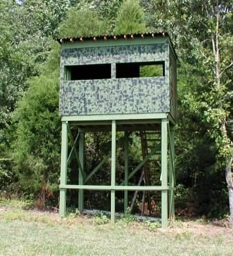 Homemade elevated deer blind plans deer blind for Diy deer blind