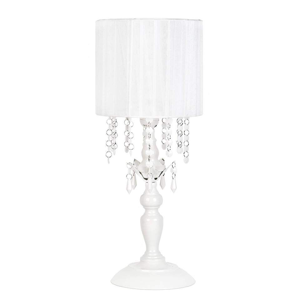 Tadpoles Chandelier Shaded Table Lamp, White