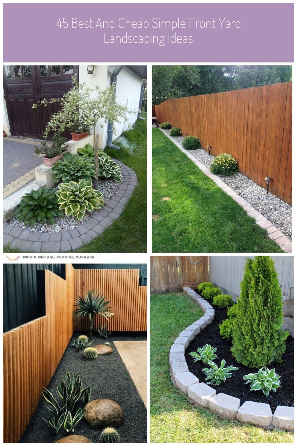 45 Best And Cheap Simple Front Yard Landscaping Ideas 47 Simple Landscaping 45 Best And Cheap Cheap Landscaping Ideas Yard Landscaping Front Yard Landscaping