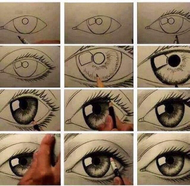 How To Draw A Realistic Eye Eye Drawing Drawings Cartoon Drawings
