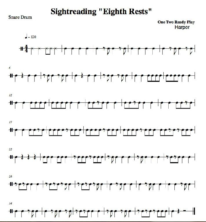 Printables Sight Reading Worksheets sight reading exercises 1 band orchestra percussion drumming 2 percussion