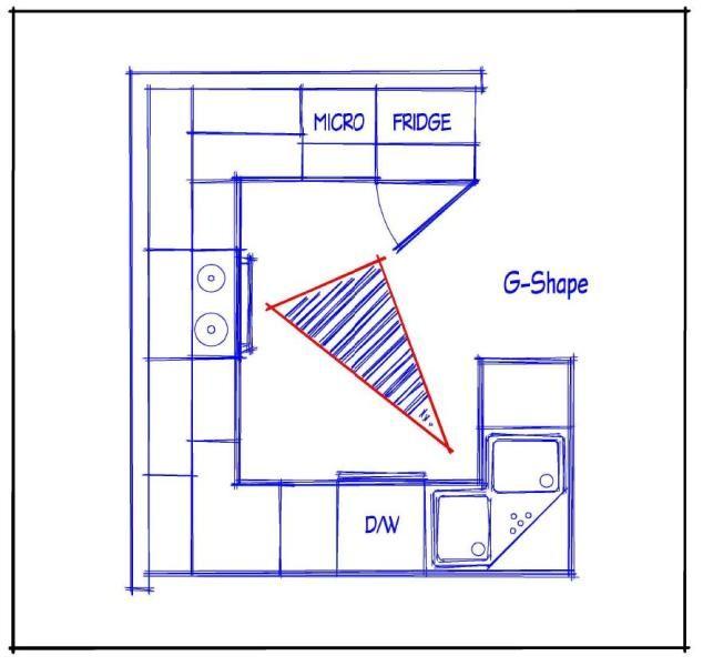 Great U Shaped Kitchen With Peninsula   G Shaped Kitchen Layout.  Resolution: 634 X 600 . Part 95