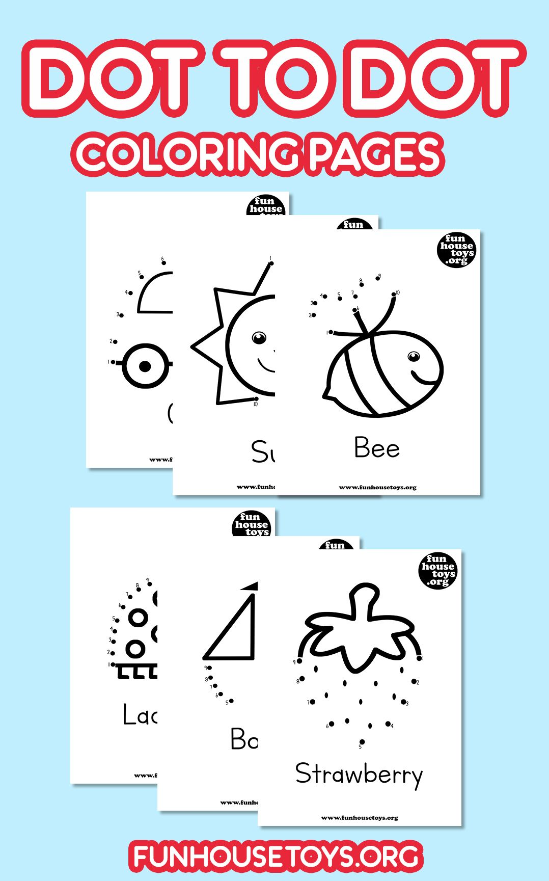 Dot To Dots Worksheets Aren T Just Fun Drawing Activities