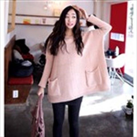 Trendy Round Neck Pullover Knitwear Batwing Sleeved Sweater for Girl Woman - Pink http://www.sbox2u.com/trendy-round-neck-pullover-knitwear-batwing-sleeved-sweater-for-girl-woman-pink_p59666365