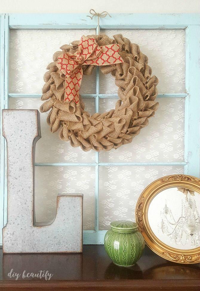 How to Make a Burlap Petal Wreath
