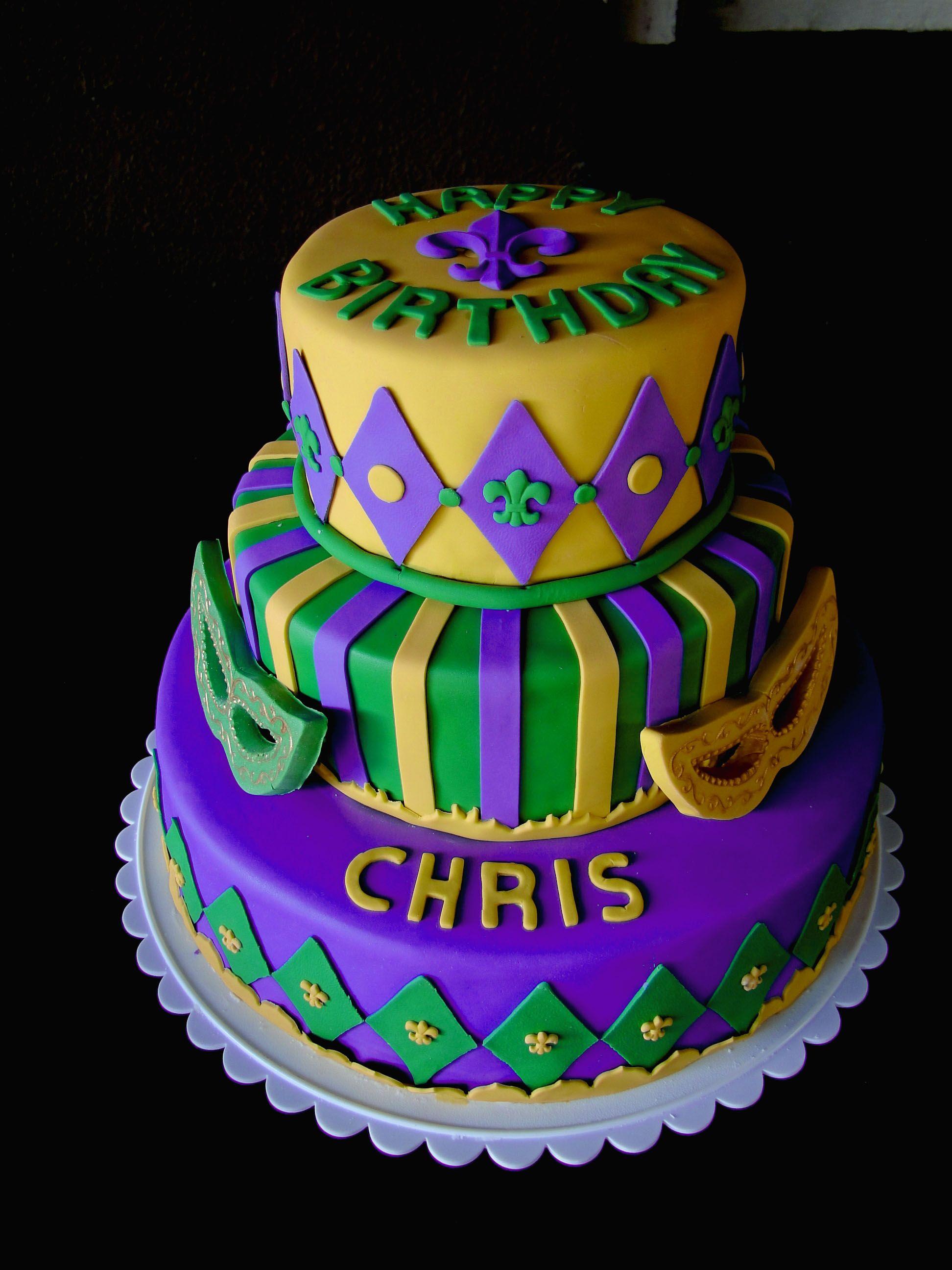 Surprising Chris Birthday With Images Mardi Gras Cake Mardi Gras King Funny Birthday Cards Online Eattedamsfinfo