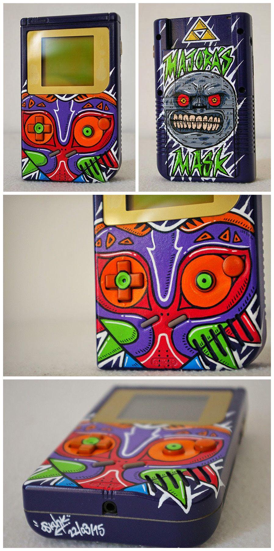 Game boy color legend of zelda - Custom Art Custom Game Boy Legend Of Zelda Majora S Mask