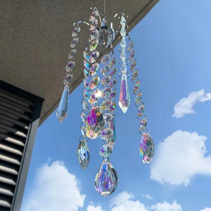 Crystal Rainbow Chaser Bluediem In 2020 Wind Chimes Crystal Wind Chimes Crystal Prisms