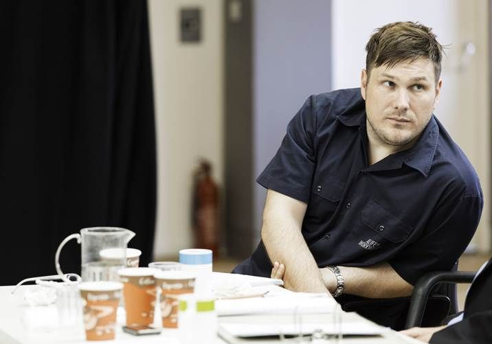 Marc in rehearsals at the Donmar