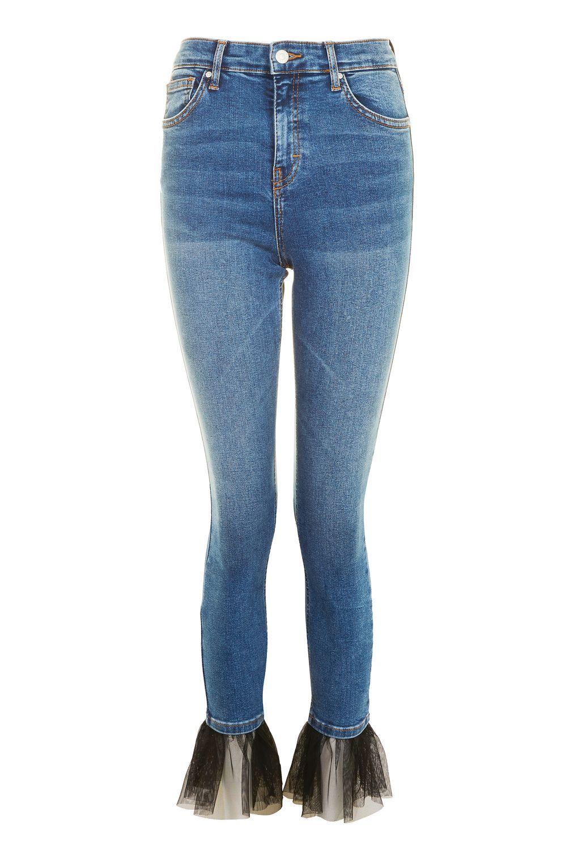 2f1034ddbf4 MOTO Tulle Hem Jamie Jeans - Jeans - Clothing - Topshop Europe How To Hem  Pants