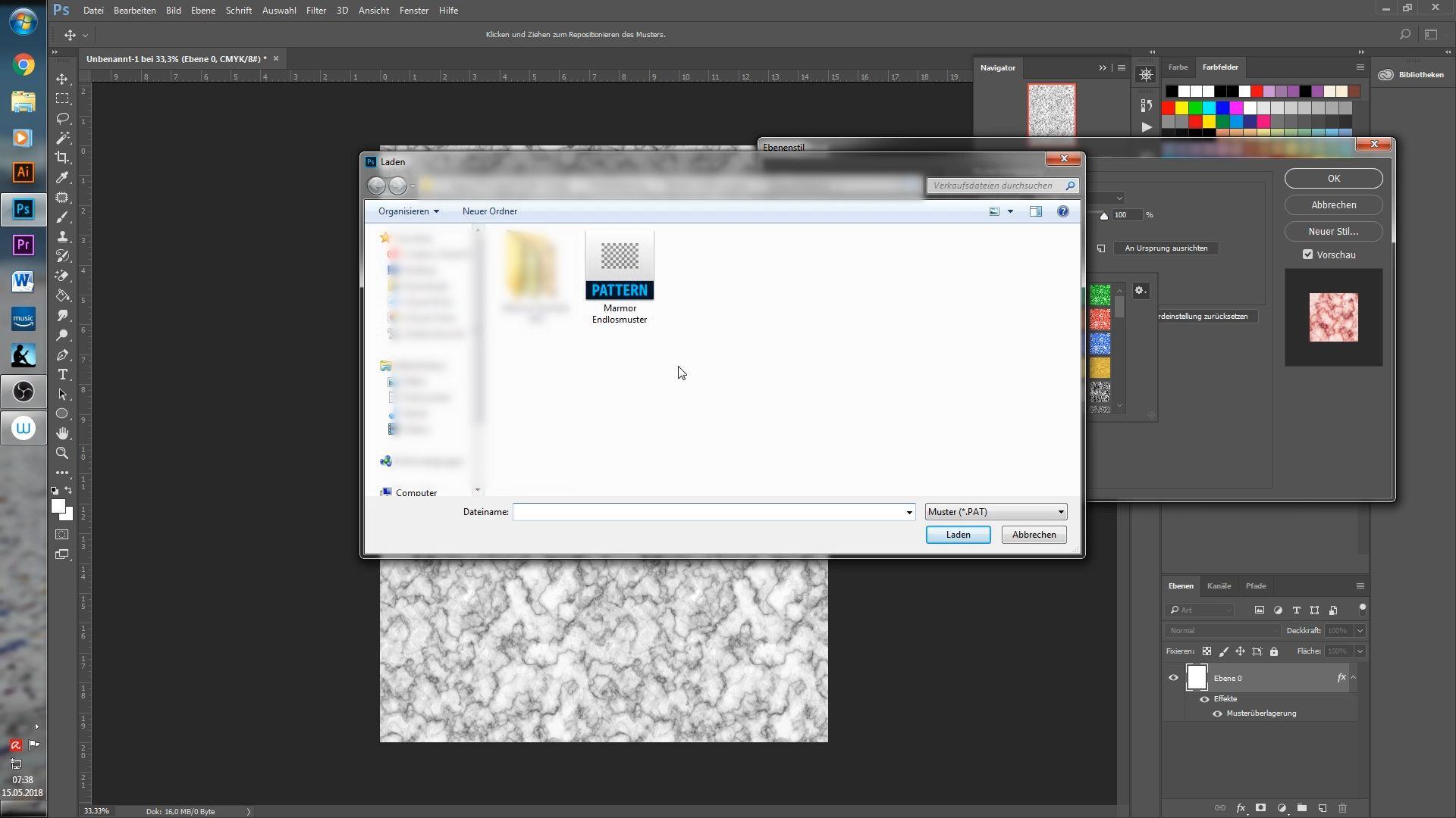 Pat Datei In Photoshop Einfugen Photoshop Shops Anleitungen