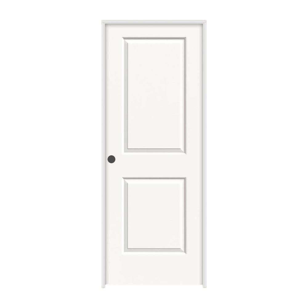 Jeld Wen 24 In X 80 In Cambridge White Painted Right Hand Smooth Solid Core Molded Composite Mdf Single Prehung Interior Door Prehung Interior Doors Interior Design Programs Rustic Living Room Furniture
