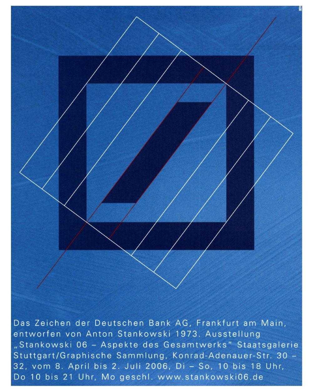Deutsche Bank Logo by Anton Stankowski Retro logos