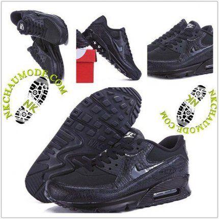 Couleurs variées 7ba0e fbc57 Montante | Nike Chaussure Sport Air Max 90 Femme Noir ...
