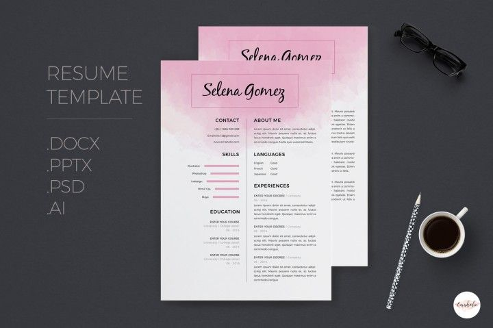 CV template, cover letter template By Emaholic Templates CV - download cover letter template