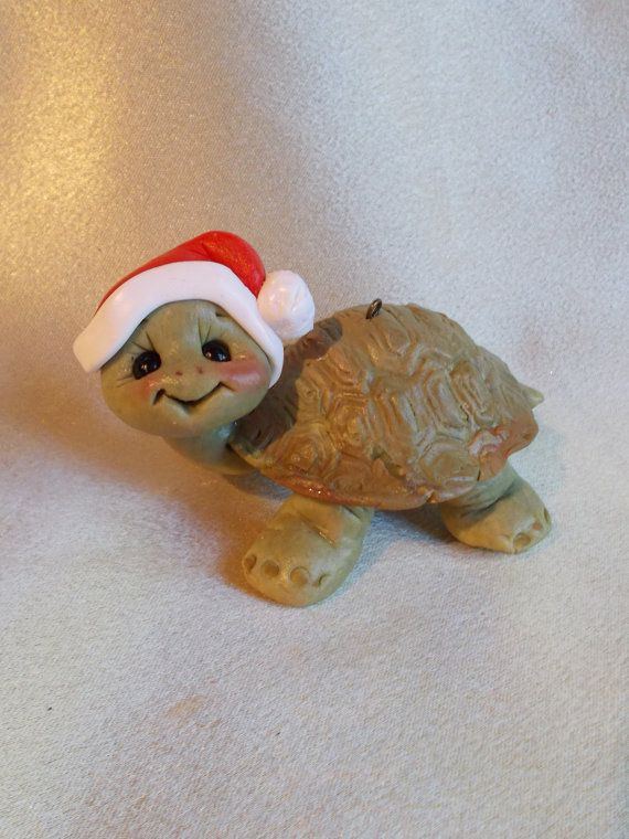 turtle turtles polymer clay personalized Christmas by clayqts, $19.75