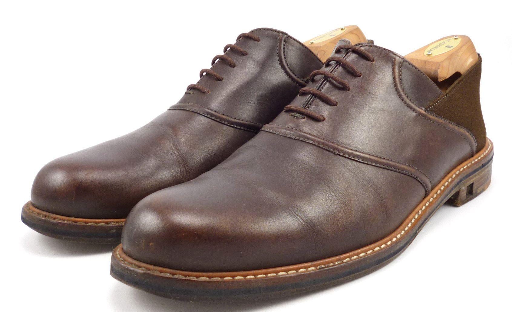 Louis vuitton mens shoes 10 11 us leather oxford brown