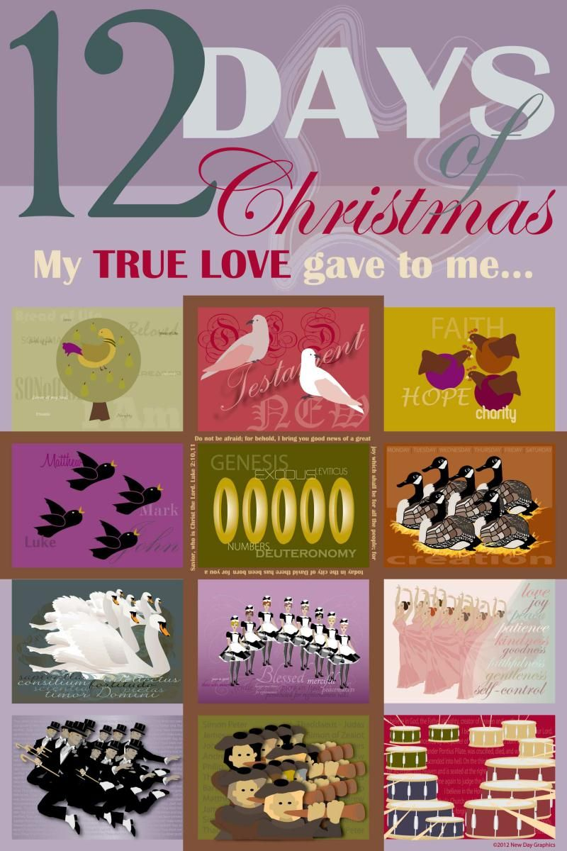 Meaning of 12 days of christmas - Poster Created For Maryann Foss Of The 12 Days Of Christmas The Real Meaning Behind