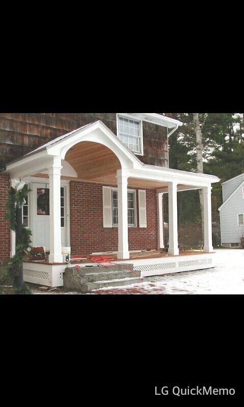 Mudroom Addition To Front Of House Yahoo Search Results: Portico Design, House With Porch, Porch Design