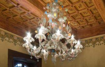 Lampadario Antico Murano : Lampadario antico in vetro di murano lampadario antico
