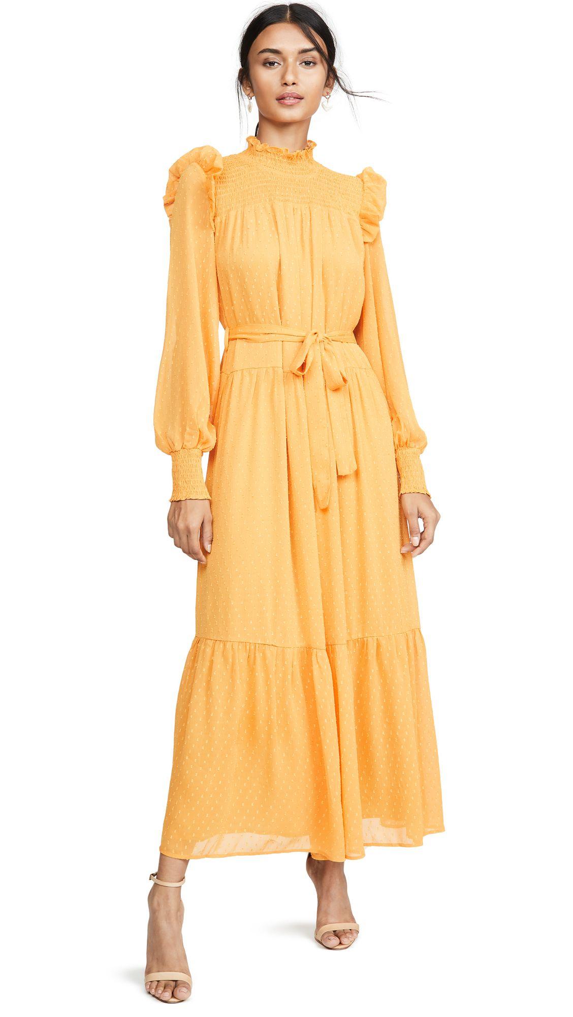 English Factory Swiss Dot Smocked Maxi Dress Shopbop In 2020 Smocked Maxi Dresses Designer Dresses Casual Maxi Dress [ 2000 x 1128 Pixel ]