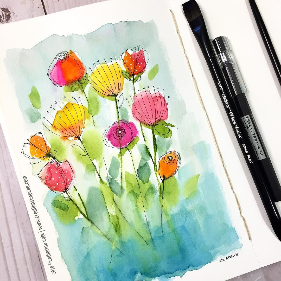 Yesterday S Fun Time Watercolor Art Watercolour