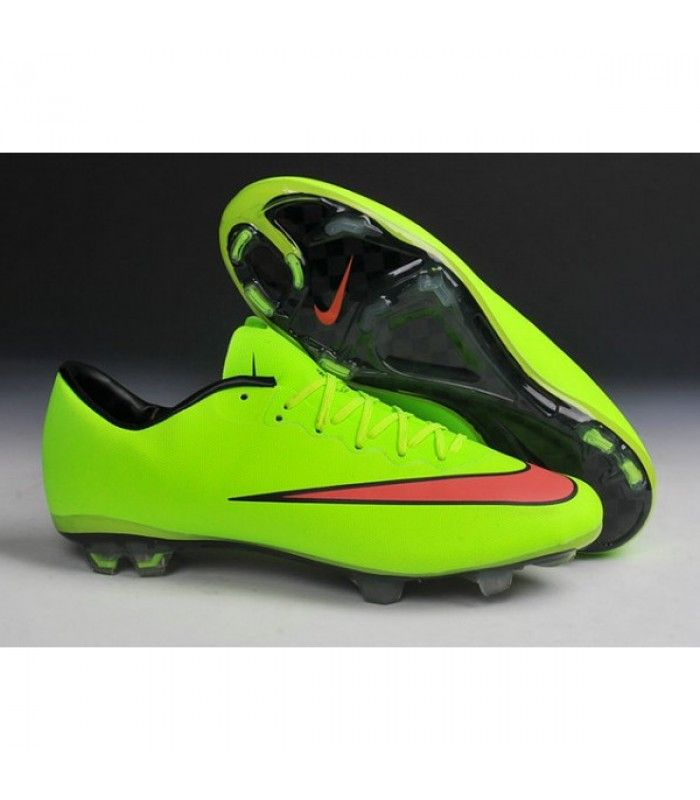 sports shoes 8a0df b4356 ... shoes 648555803 orange 7fcac b6282  sweden acheter nouvelle chaussure  de football nike mercurial vapor x fg vert rouge noir pas cher