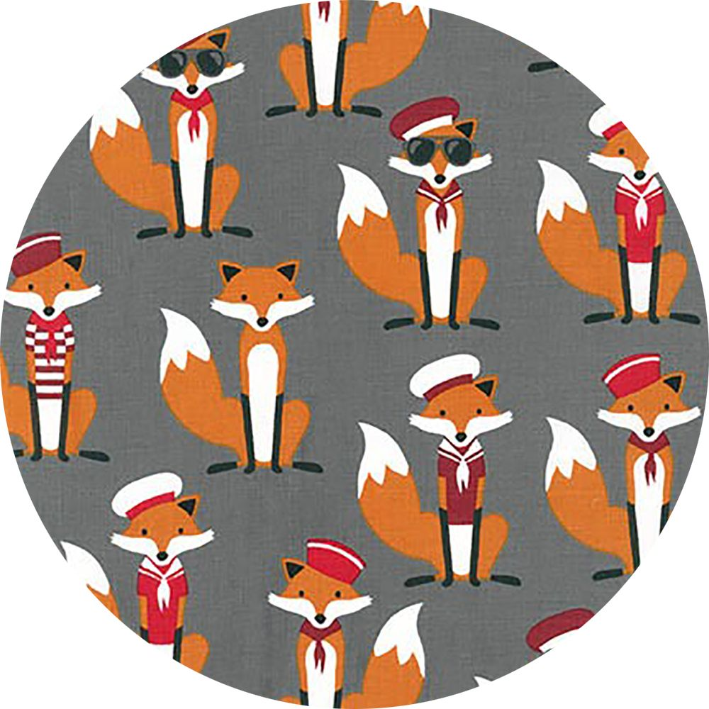 Fat Quarter Fabulous Foxes on Navy Blue 100/% Cotton Quilting Fabric