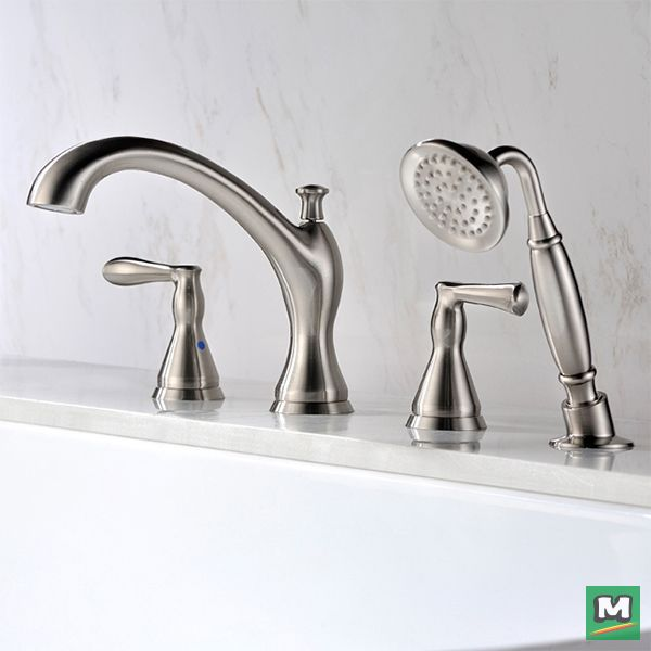 The Tuscany® Jensen Roman Tub Faucet with Handheld Shower delivers ...