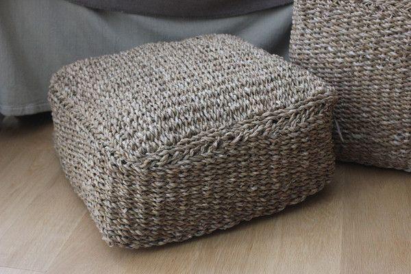 Square Seagrass Hogla Seat
