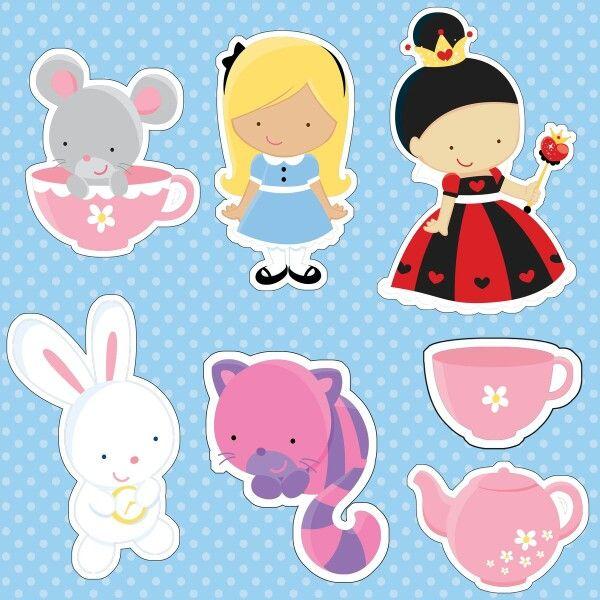 Toppers Digital Alice No Pais Das Maravilhas Alice Molde Alice