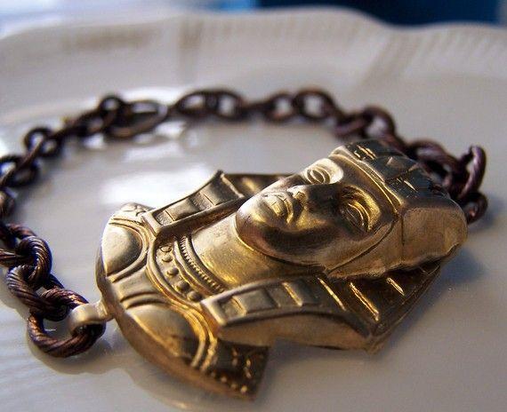 king tut bracelet by SuperFantasticJulie on Etsy, $17.00