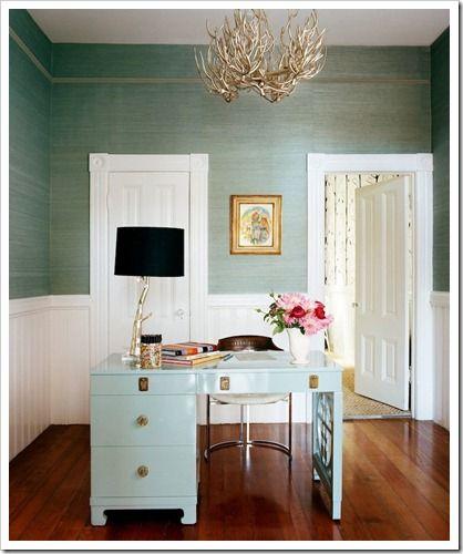 Love this color grasscloth wallpaper Hawaiian Decor Pinterest