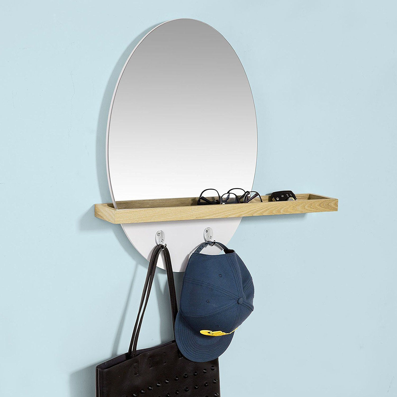Salle De Bain Avec 2 Entrees sobuy® frg122-n miroir mural pour salle de bain l'entrée