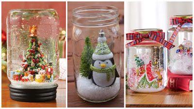 Adornos navide os frascos de vidrio adornos navide os for Frascos decorados para navidad