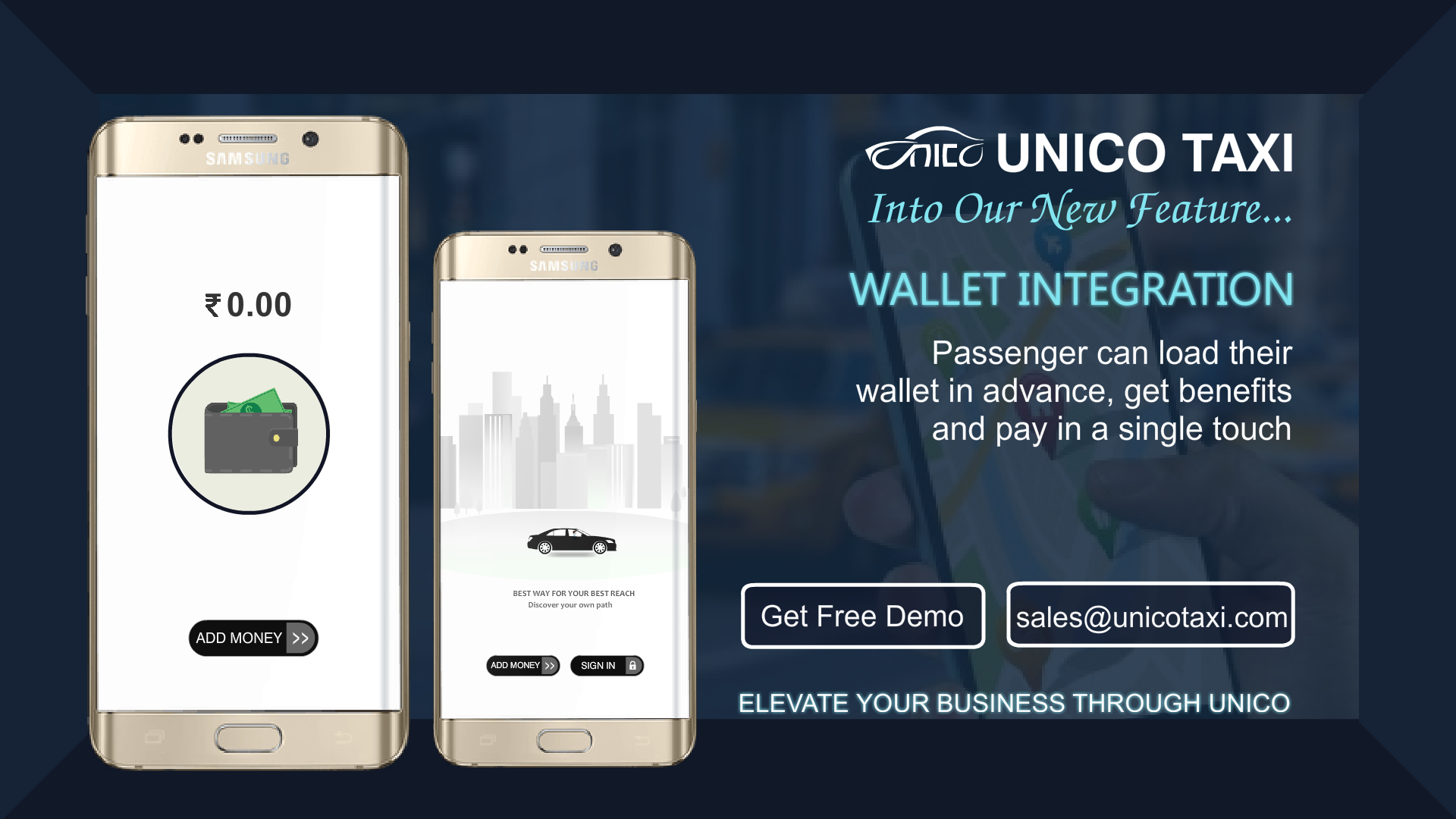 UnicoTaxi Provides a #white #label #taxi #application to