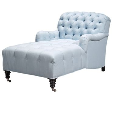 "Barclay Butera ""Somerset"" two arm chaise lounge 33""x 62""x 37"
