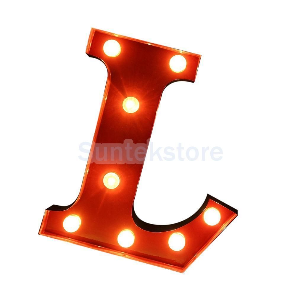 Inch Red Block Freestanding Circus Style Alphabet Led Light Up