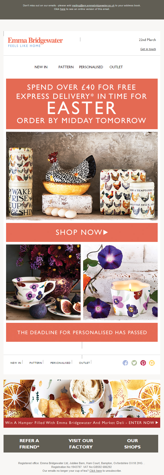 Emma bridgewater easter email offer emailmarketing email emma bridgewater easter email offer emailmarketing email marketin easter gifts negle Images