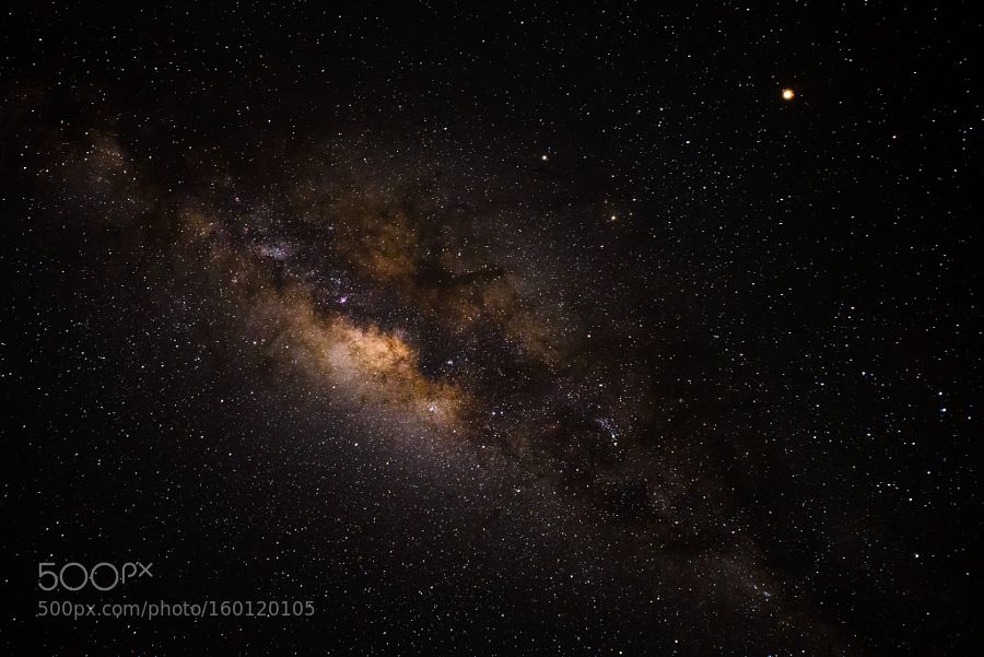 Milky Way - The Milky Way above South Africa. The bright spot on the upper right side is Mars.