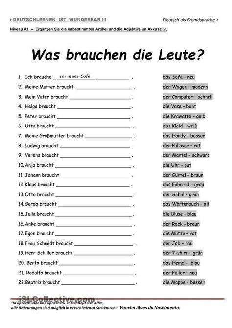 a1 was brauchen die leute deutsch pinterest deutsch lernen deutsche grammatik und deutsch. Black Bedroom Furniture Sets. Home Design Ideas