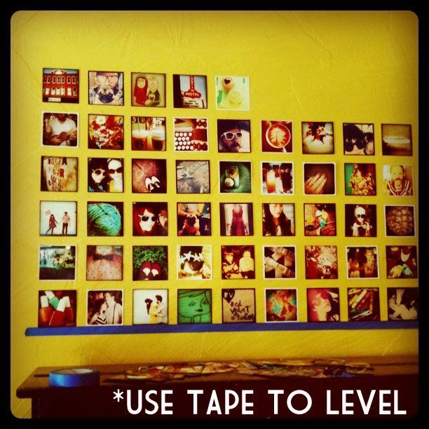 Instagram wall.