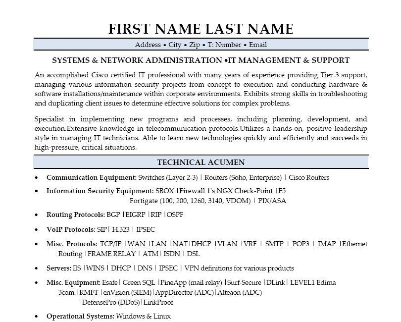 Click Here to Download this Systems Administrator Resume